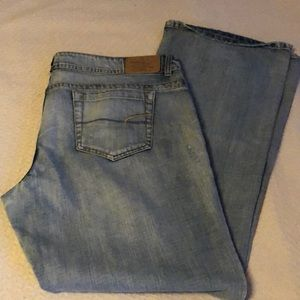👖 AMERICAN EAGLE RIPPED BOOTCUT JEANS Sz 18 LONG